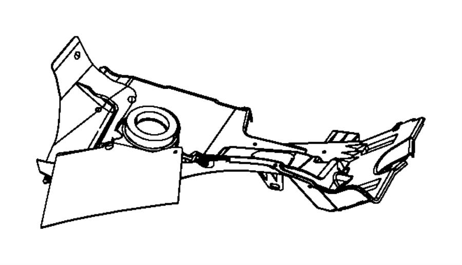 Dodge Dakota Tray. Battery. Bracket. COMPONENT. Inner
