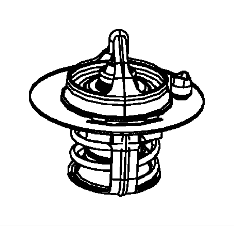 Chrysler 300 Engine Coolant Thermostat. COOLING, LITER