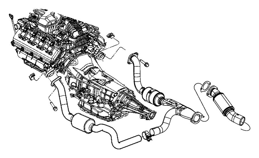 Chrysler Aspen Catalytic Converter. 5.7 LITER, 2WD. Aspen