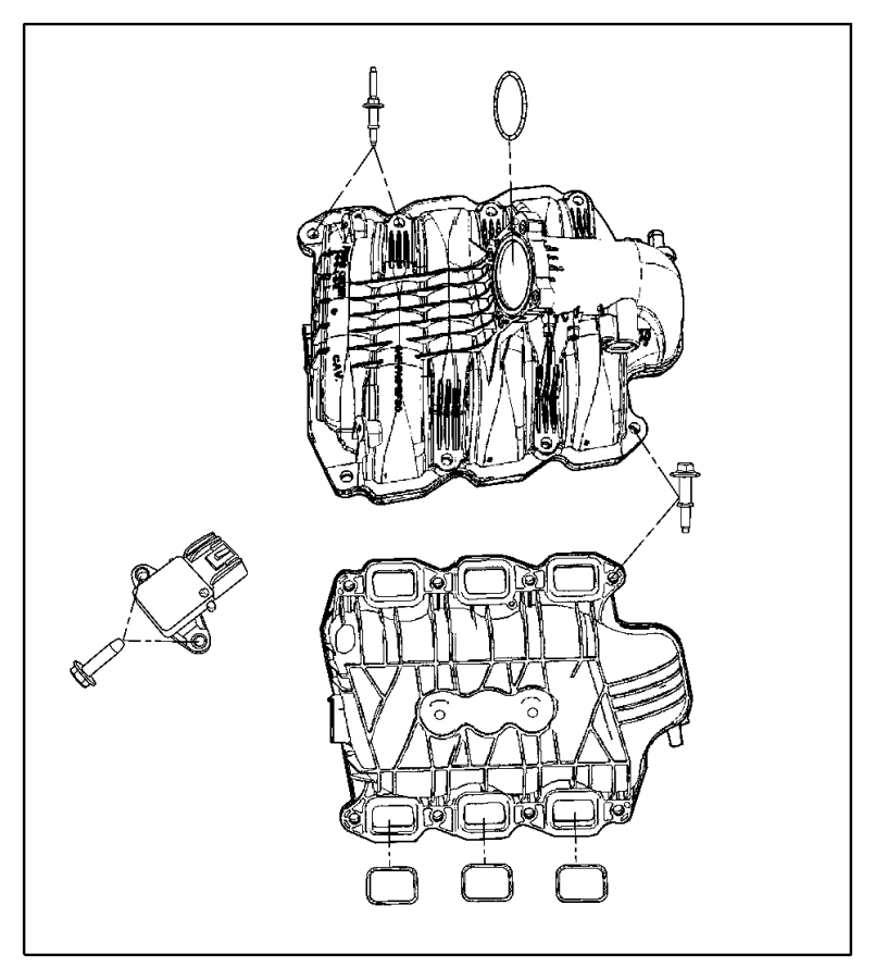 Dodge Ram 1500 Engine Intake Manifold. LITER, Grand, FCA