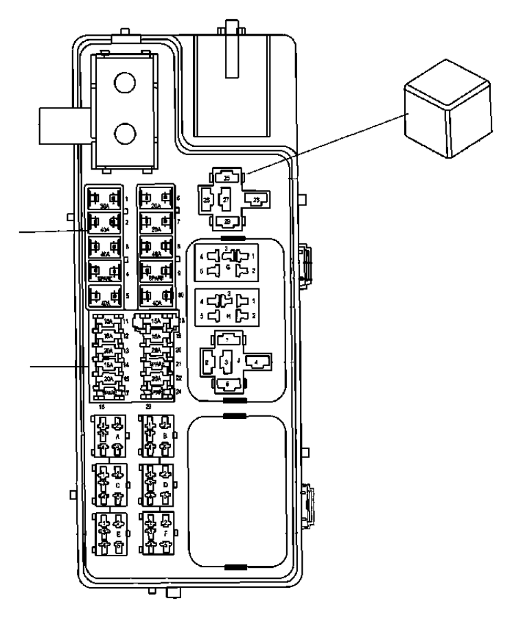 Jeep Compass Fuse Box. UNDER HOOD. Module, Telematics