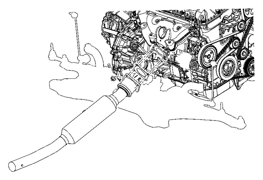 Jeep Compass Catalytic Converter. LITER, Trans, Auto