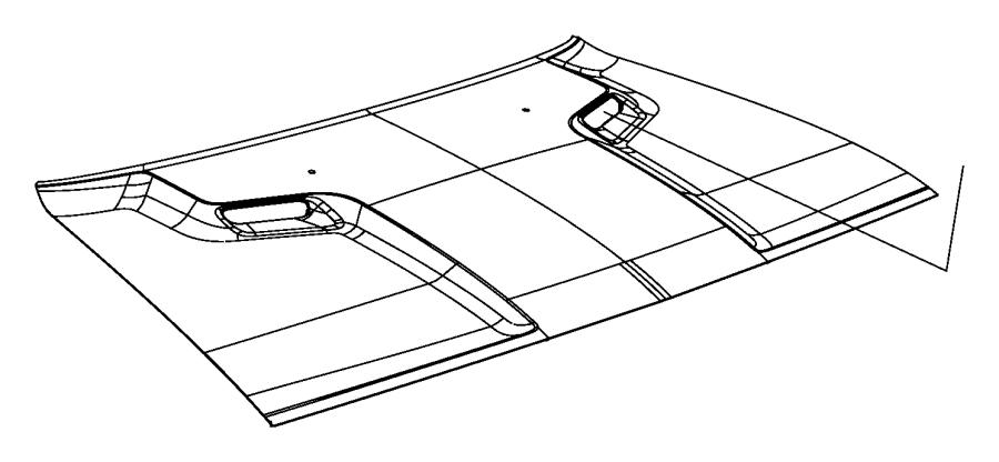 Dodge Challenger Hood Panel. 2008-14. 2008-14, w/o scoop
