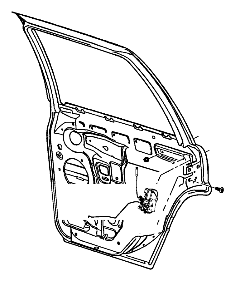 Jeep Grand Cherokee Latch. Lock. Door. ACTUATOR. (Rear