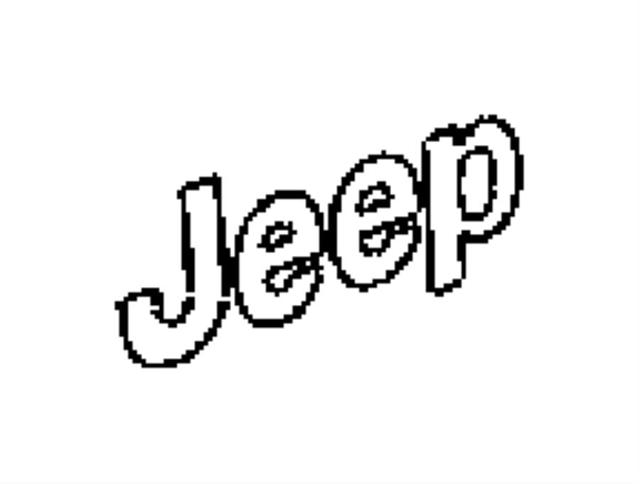 Jeep Grand Cherokee Emblem. JEEP. 2014-18. Door. Edge