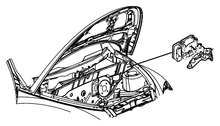 Chrysler PT Cruiser Abs control module. Disc, light
