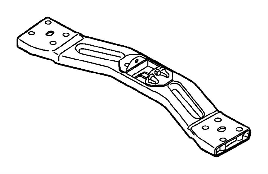 Dodge NITRO Transmission Crossmember. 3.7 LITER. 4.0 LITER