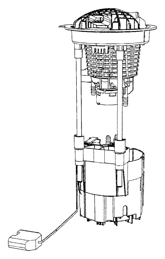 Dodge Ram 1500 Electric Fuel Pump. Ram 1500; 4.7L; w/Flex