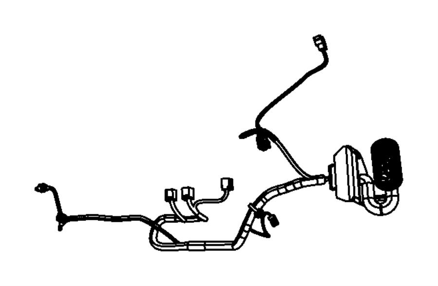 Jeep Compass Door Wiring Harness. Left, Front, LOCK, FCA