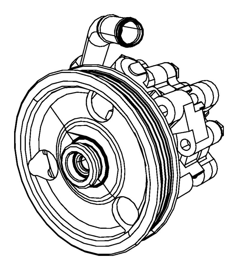 Chrysler 200 Power Steering Pump. LITER, Convertible, GEAR