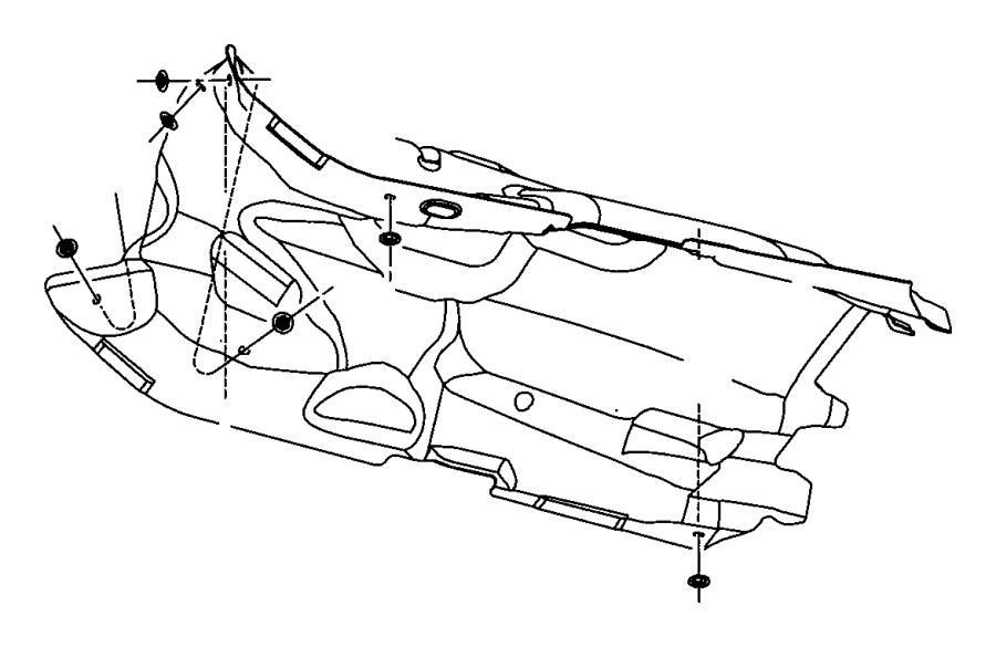 Dodge NITRO Shield. Heat. Exhaust. Floor Pan. 3.7 LITER. 4