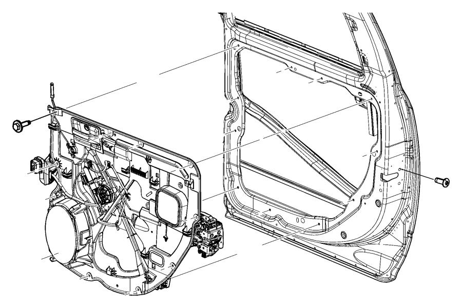 Dodge Ram 1500 Regulator. Carrier. QUAD CAB. Ram 1500