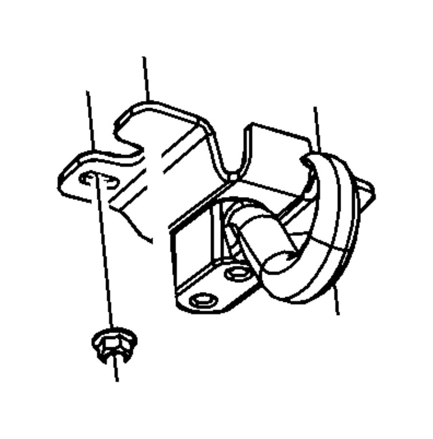Jeep Liberty Tow Hook. 2.4 LITER. 2.8 LITER DIESEL. 3.7