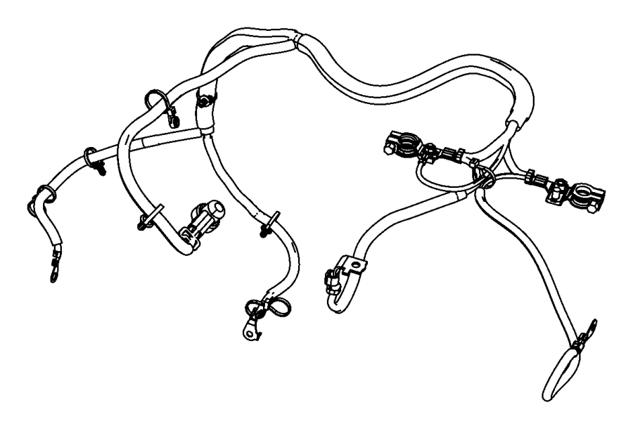 Jeep Wrangler Battery. Cable. Harness. Positive. Wiring