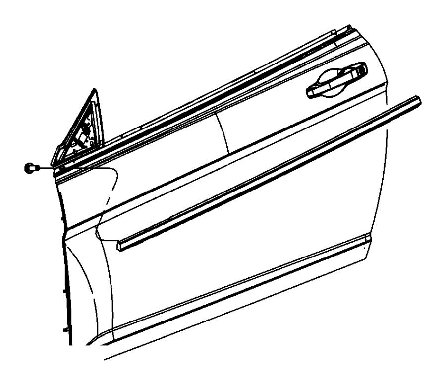 Chrysler 200 Door Window Belt Weatherstrip Screw