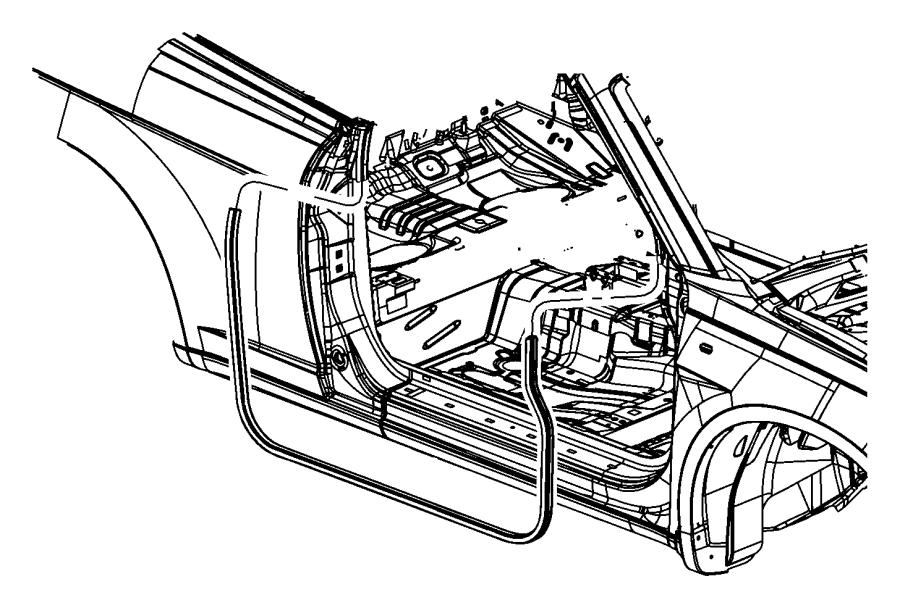 Chrysler 200 Door Seal (Front, Lower). CONVERTIBLE