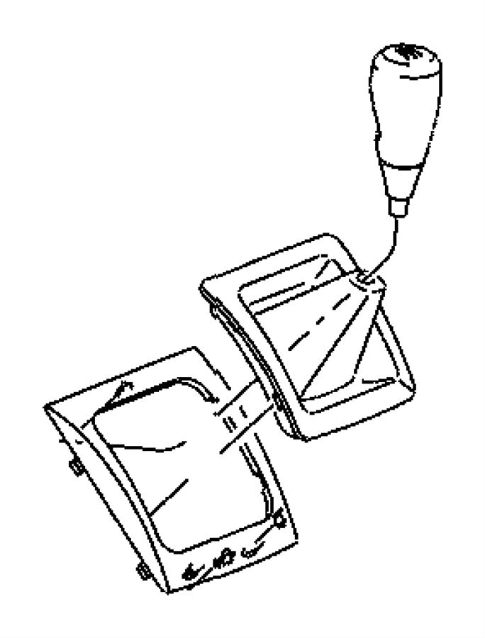 Dodge Caliber Manual Transmission Shift Linkage Boot. 2010
