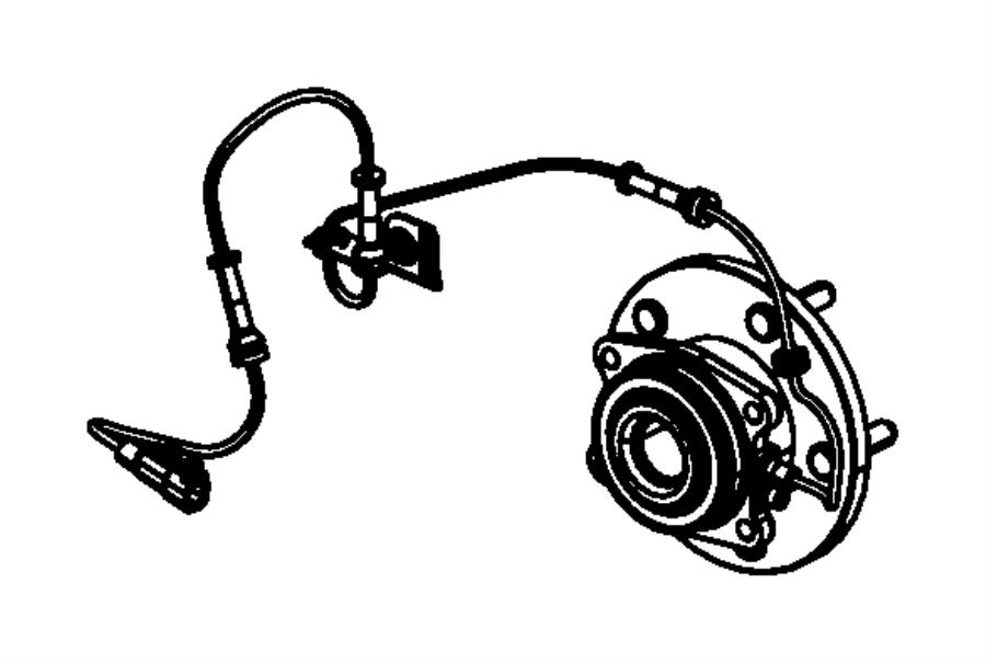 Chrysler Town & Country Abs wheel speed sensor (rear
