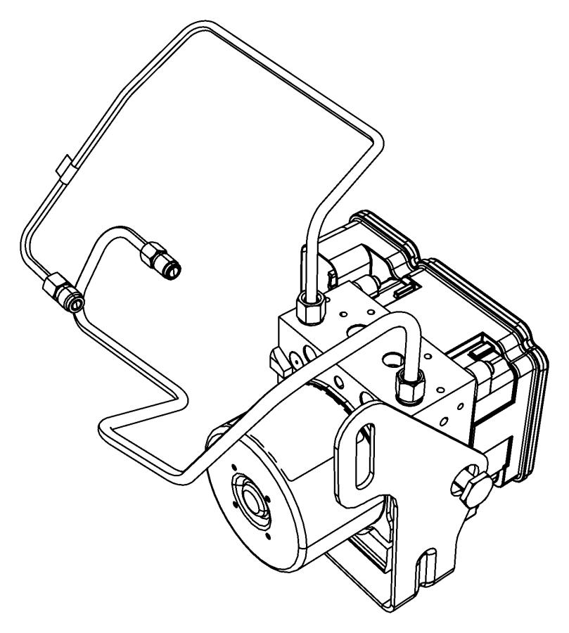 Dodge Durango Abs control module. Components, light