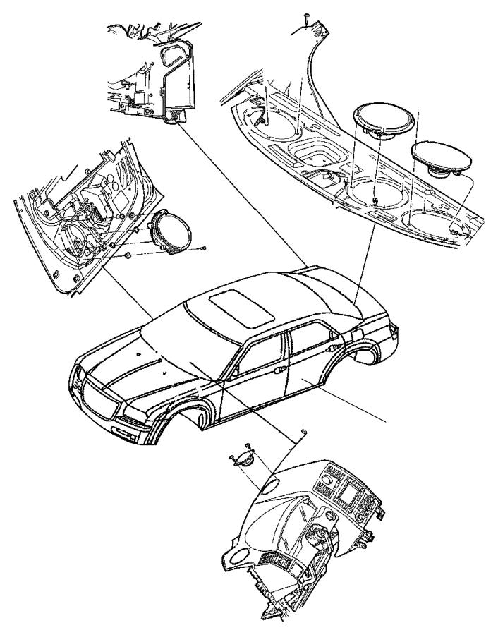 Chrysler 300 Radio Amplifier. 2011-14, w/o premiun sound