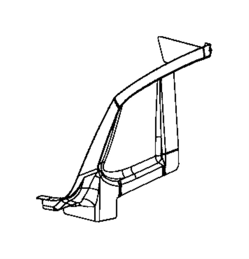 Dodge Charger Tail Light Pocket. BODY, REAR, Left