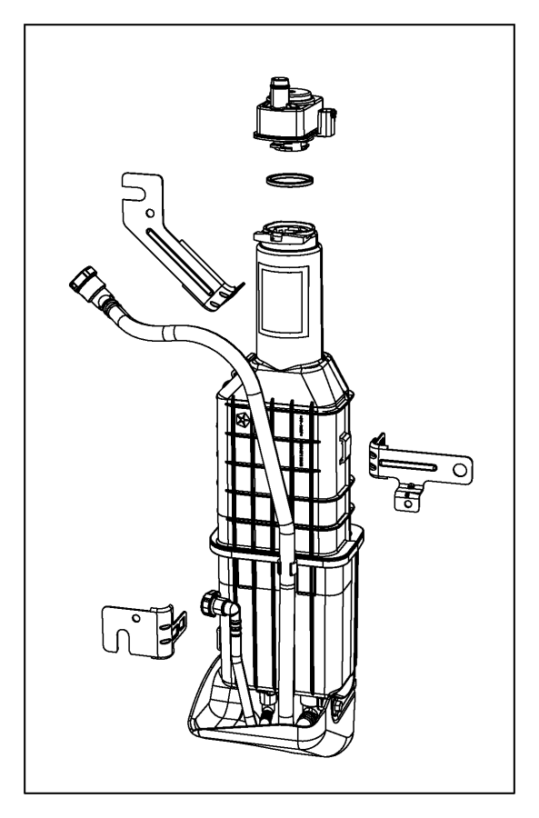 Chrysler Town & Country Vapor canister bracket. Vapor