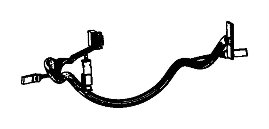 Jeep Grand Cherokee Steering Wheel Wiring Harness. 2012-13