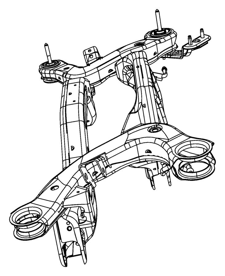 Chrysler 200 Suspension Subframe Crossmember. Rear, FWD