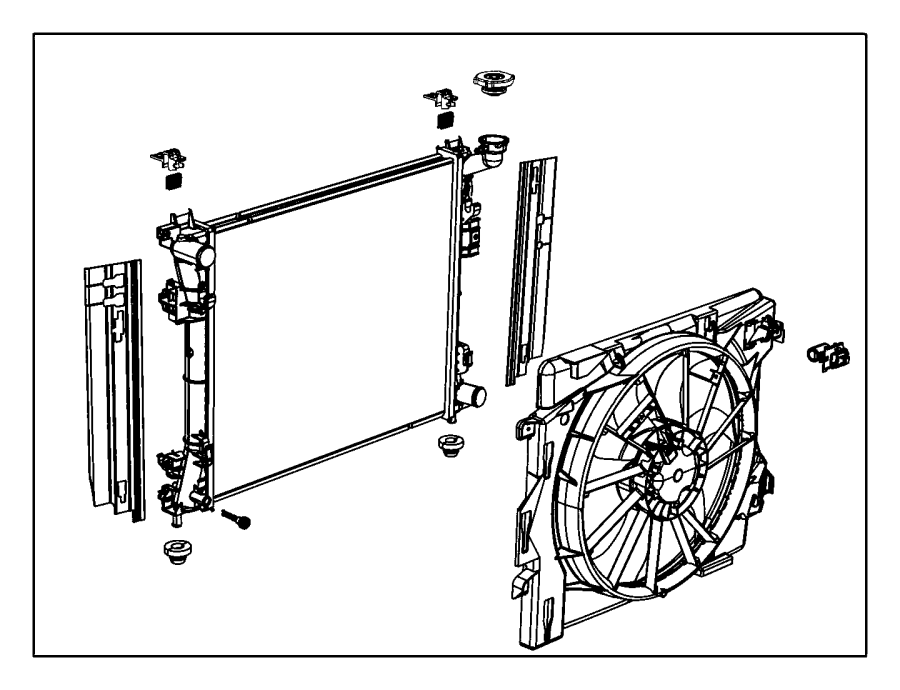 Chrysler Town & Country Radiator Coolant Hose (Upper