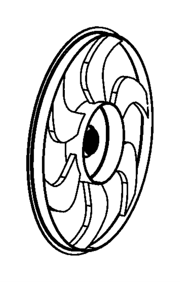 Jeep Wrangler Engine Cooling Fan Blade. Wrangler; Electric