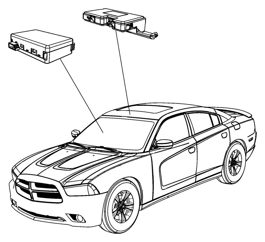 Chrysler 300 Rain Sensor. 300. Compass. CONTROL MODULES