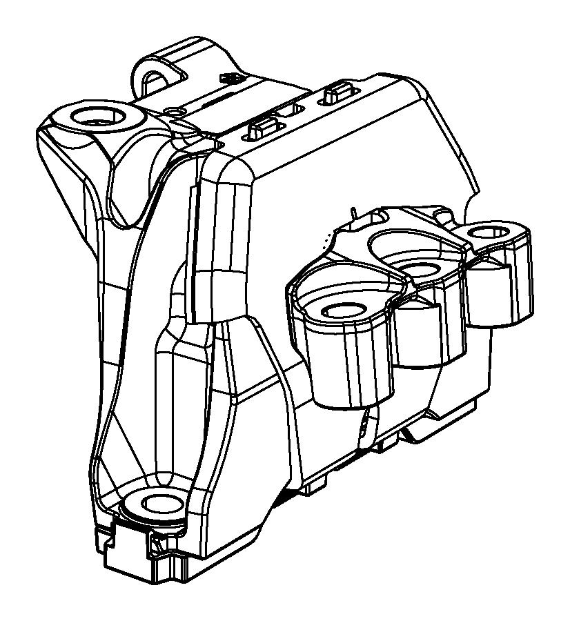 Dodge Dart Engine Mount Bracket. Dart; Right. W/O TURBO, 2