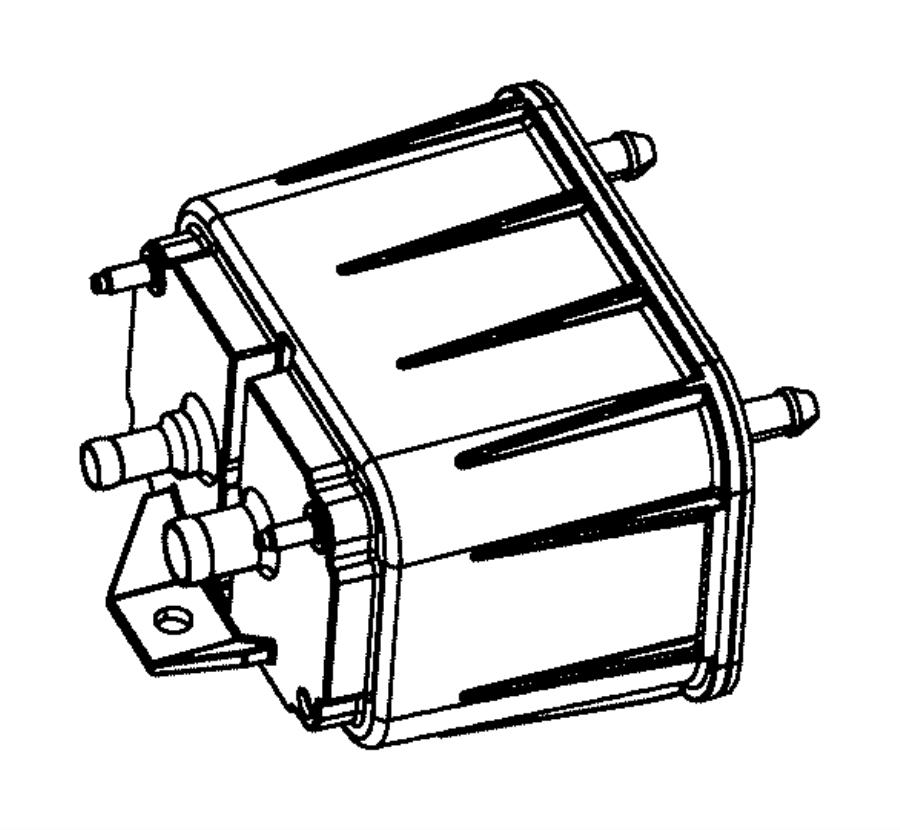 Dodge Ram 1500 Vapor Canister. LITER, Square, EMISSION