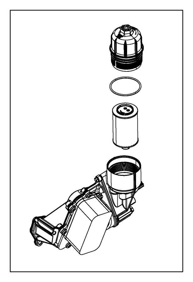 Jeep Grand Cherokee Engine Oil Filter Housing Cap. 3.0
