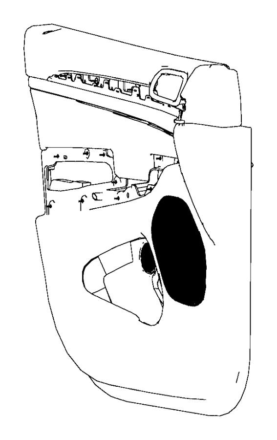 Jeep Grand Cherokee Door Interior Trim Panel. Limited