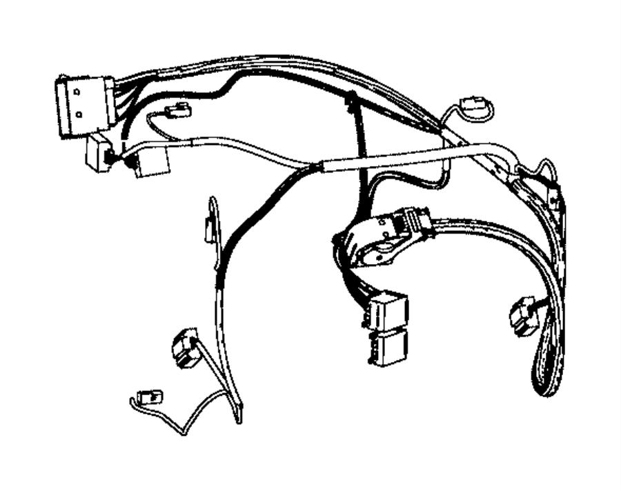 Jeep Cherokee Hvac system wiring harness. 2.4 liter. All