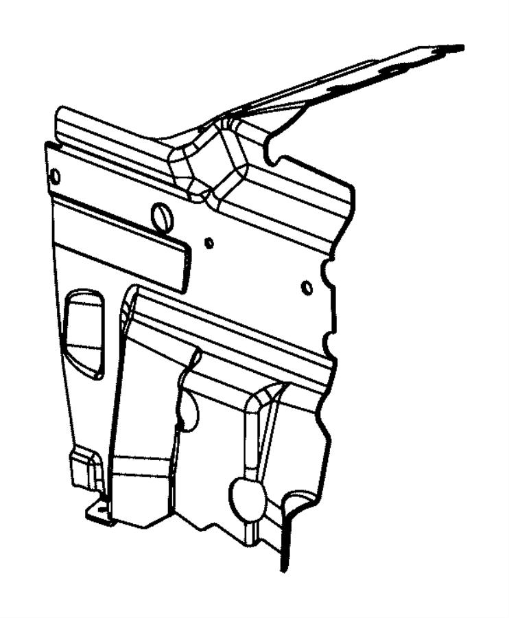 Dodge Challenger Radiator Support Baffle (Upper). 3.6