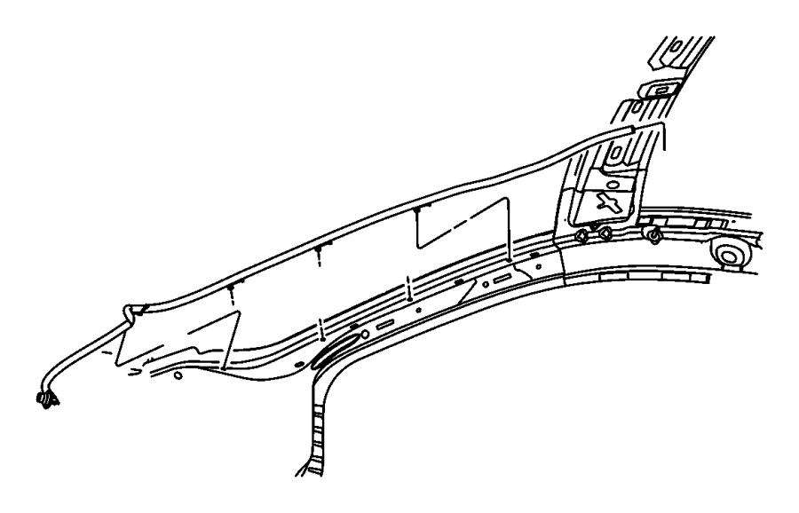 Chrysler Sebring Sunroof Drain Hose (Front). Front. SEDAN