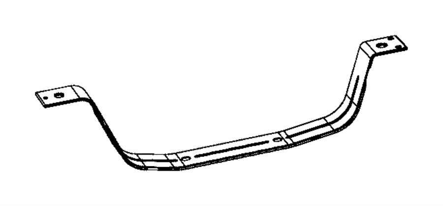 Jeep Grand Cherokee Fuel Tank Strap (Rear). Front. Rear