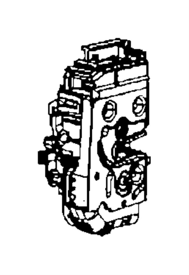 Jeep Wrangler Door Latch Assembly (Front). FULL DOOR