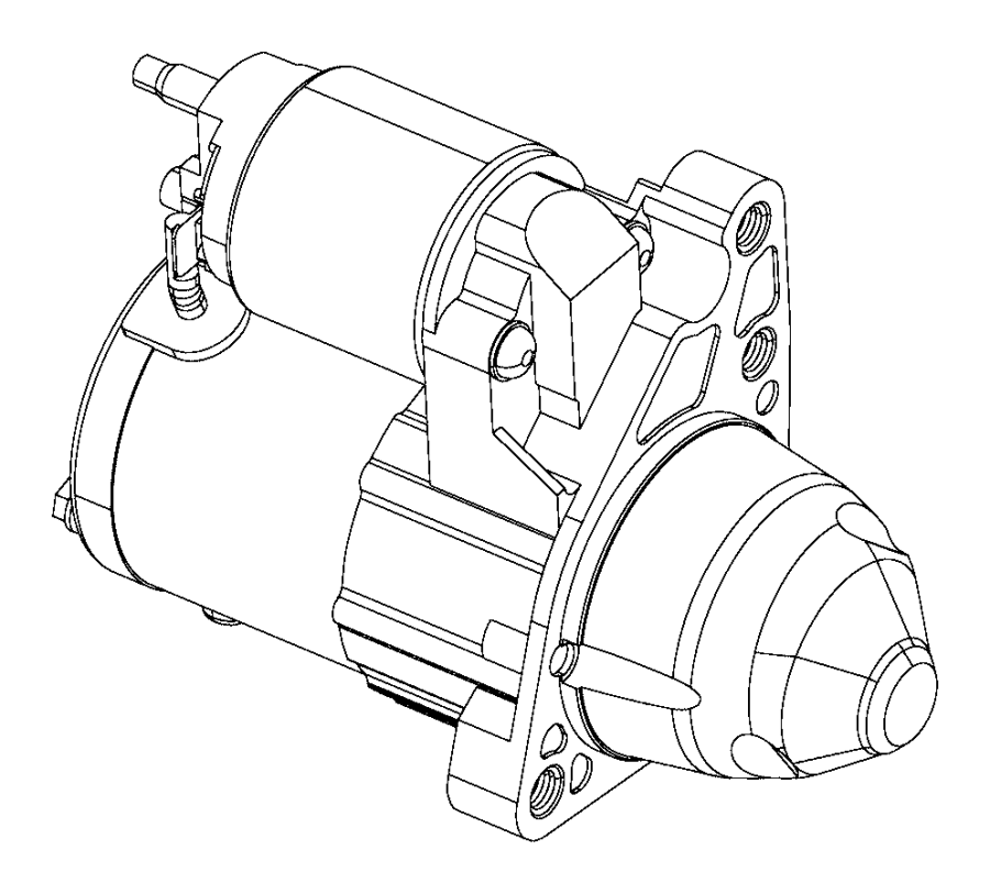 Dodge Avenger Starter Motor. Engine. Starter Motor