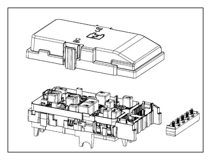 Chrysler 200 Fuse Box. 2.4 liter, w/o auto stop-go