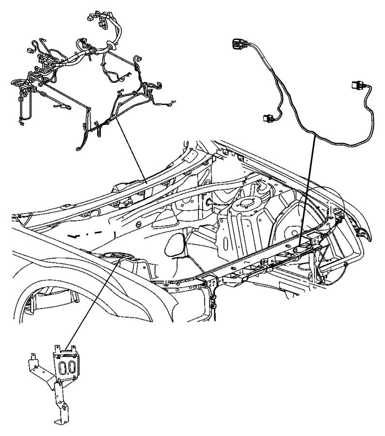 Chrysler 300 Fuse and Relay Center Bracket. ENGINE