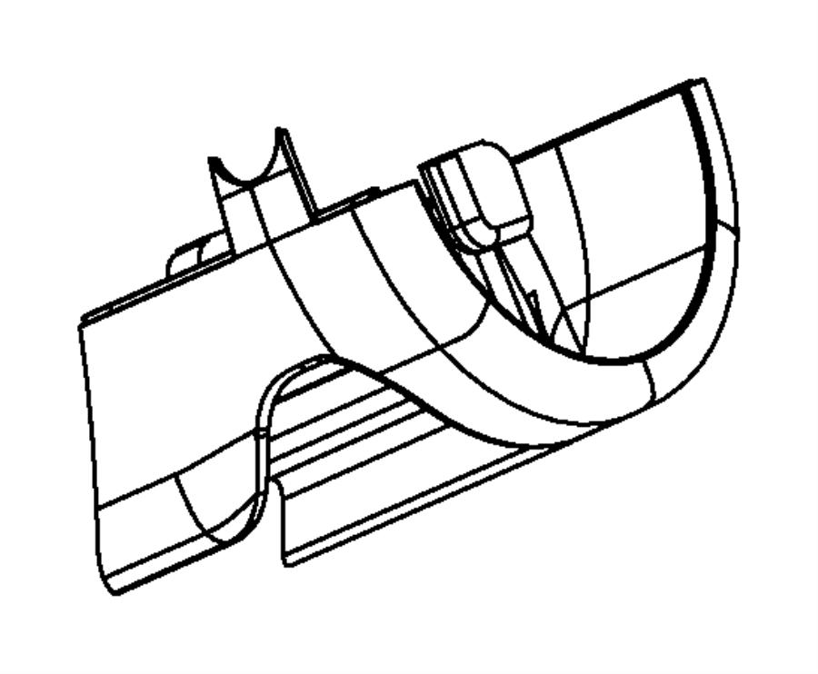 Jeep Cherokee Steering Column Cover (Lower). Blue/brown