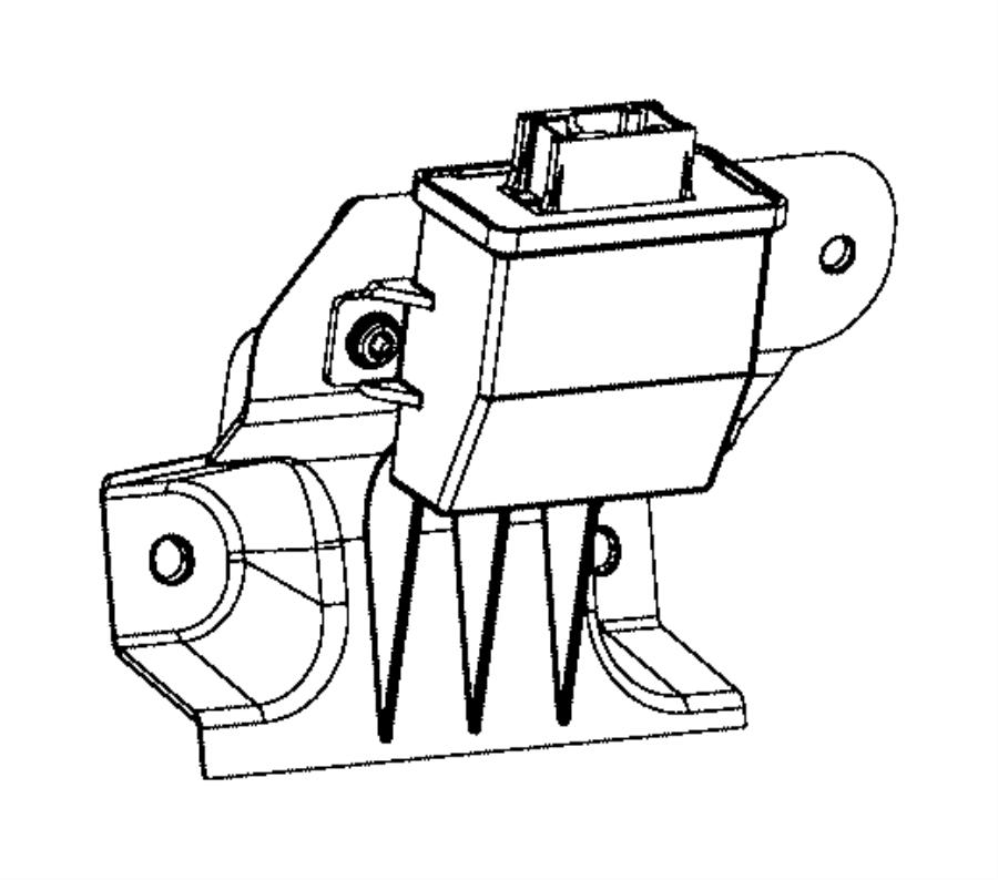 Jeep Cherokee Control module. Headlight leveling. 2014-18