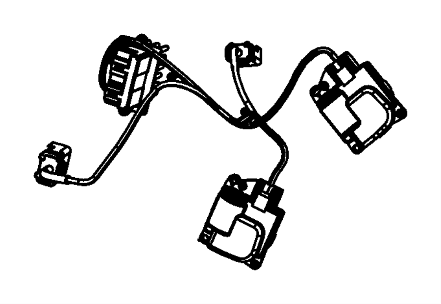 Dodge Grand Caravan Hvac system wiring harness. W/rear ac
