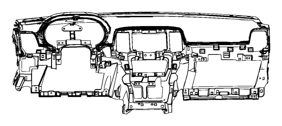 Jeep Grand Cherokee Dashboard Panel. INSTRUMENT, Black