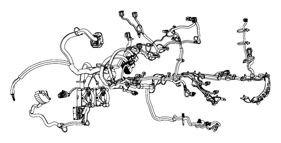 Ram ProMaster 3500 Engine Wiring Harness. 3.6 liter, w/o