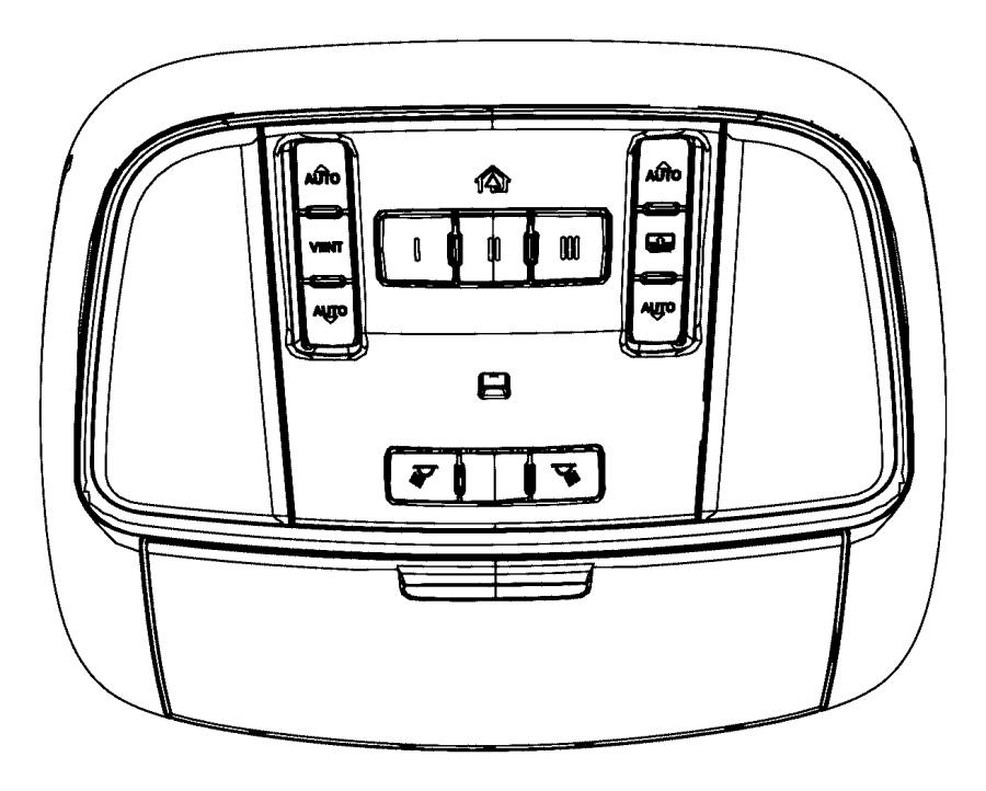 Dodge Durango Overhead Console. W/o sunroof, w/o power