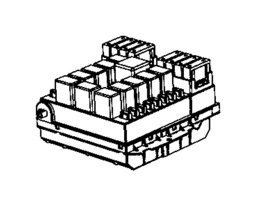 Ram ProMaster 1500 Fuse Box. 3.6 liter, w/AC. WAC